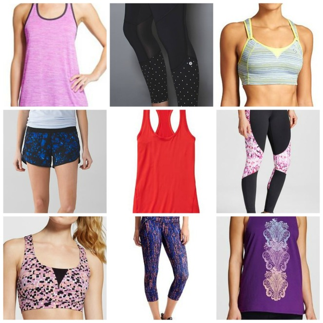Workout Clothes collage